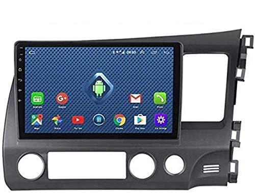 BUSUANZI para Honda Civic RHD 2004-2011 - Doble DIN en la unidad de cabezal de salpicadero de coche, audio estéreo GPS, navegación para coche, pantalla táctil de 9 pulgadas HD