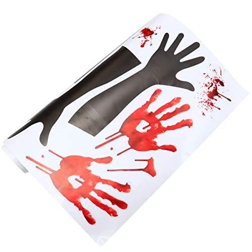 TomaiBaby 1 peça de sangue com padrão de impressão da mão de parede de Halloween de assassinato de terror