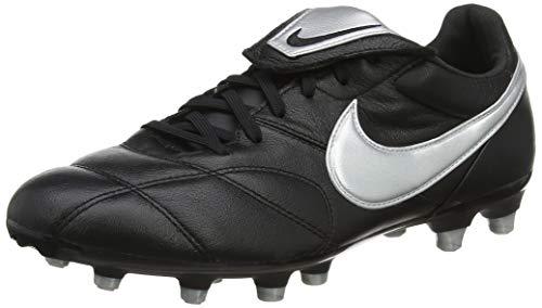 Nike The Premier II FG, Zapatillas de Fútbol Hombre, Negro (Black/Metallic Silver/Black 011), 44.5 EU