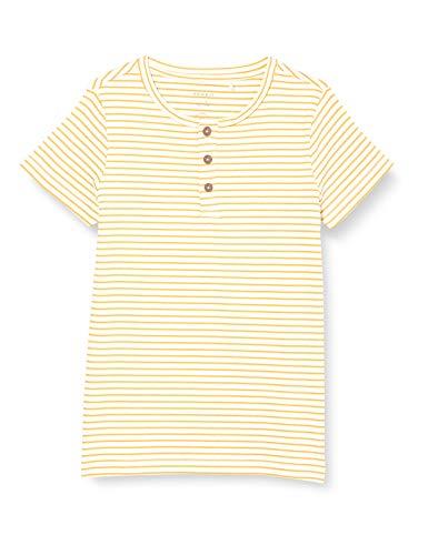 NAME IT Mädchen NKFSOLO SS Slim TOP T-Shirt, Sunset Gold, 146-152