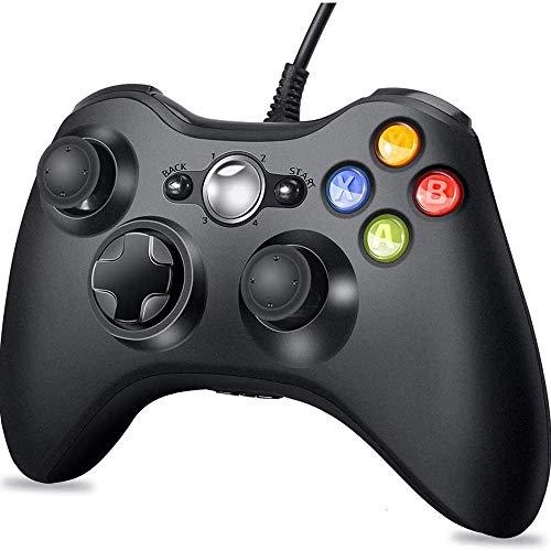 CHENC Gaming Joystick, USB Verdrahteter Spiel-Joystick Verbesserte Ergonomisches Design Controller Für PC Laptop-Computer Videospiele,Schwarz