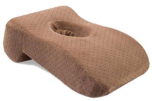 BOZEVON Langsam-Rebound Nap-Kissen Bürokissen Moderne Mittel-Hohle Design Kissen Rückenlehne Muti-Funktion Büro Kissen Mokka
