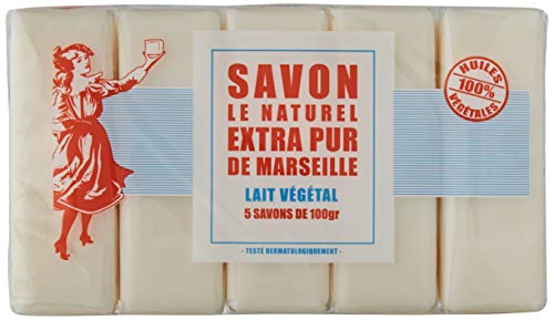 Savon le Naturel -Sapone di Marsiglia Extra Puro al latte x 5-100g