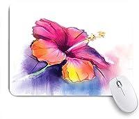 KAPANOU マウスパッド、フローラルハイビスカスフラワーパステルプリント おしゃれ 耐久性が良い 滑り止めゴム底 ゲーミングなど適用 マウス 用ノートブックコンピュータマウスマット