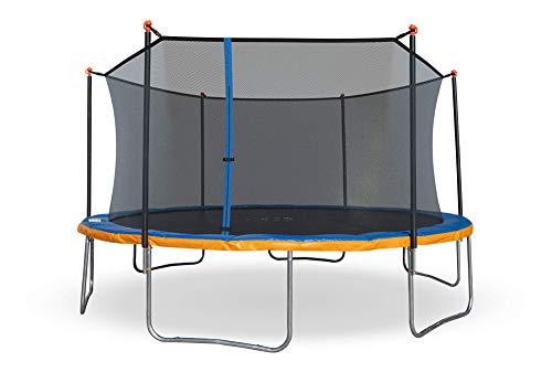 Sportspower Outdoor 15ft Trampoline with Enclosure Net, Blue