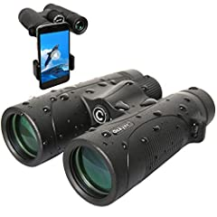 Professional Powerful Binoculars - Designed with 12x magnification and 42mm objective lens, 374ft/1000yds large field of view good for fast moving subject, ideal for bird watching, hunting, landscapes, concerts, sports events. Ultra Sharp Image with ...