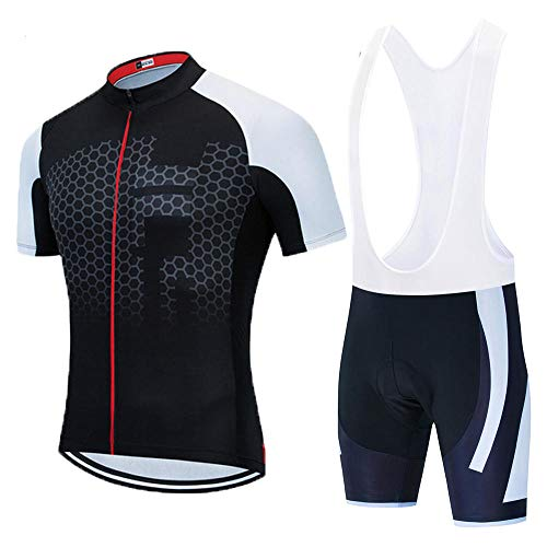 HXTSWGS Jersey de Ciclismo para Montar en Bicicleta, Manga Corta de Verano para Hombre, Ropa de Ciclismo Transpirable para MTB, Conjunto de Jersey-A11_3XL