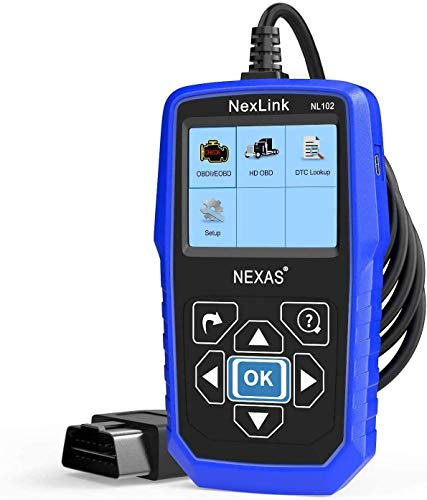 NEXAS Heavy Duty Truck Scanner NL102 OBD/EOBD+HDOBD Diagnostic Scanner Scan Tools Engine ABS Transmission Check Trucks & Cars 2 in 1 Codes Reader[Upgrade Version]