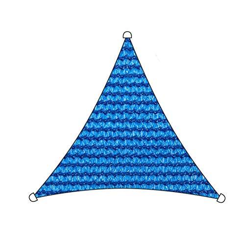 Markisen Sonnensegel Dreieck UV-Block Durchlässig Dauerhaft Zum Draussen Schwimmbad Terrasse Deck Pergola Sonnenschirm TIDLT (Farbe : Blue-3.6x3.6x3.6m)