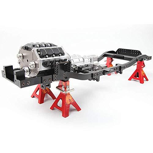 RC Crawler V8 Motor RC Motor Gigante Caja de Cambios Caja de Cambios de Tres velocidades Caja de Cambios de simulación de orugas para RC Hobby DIY