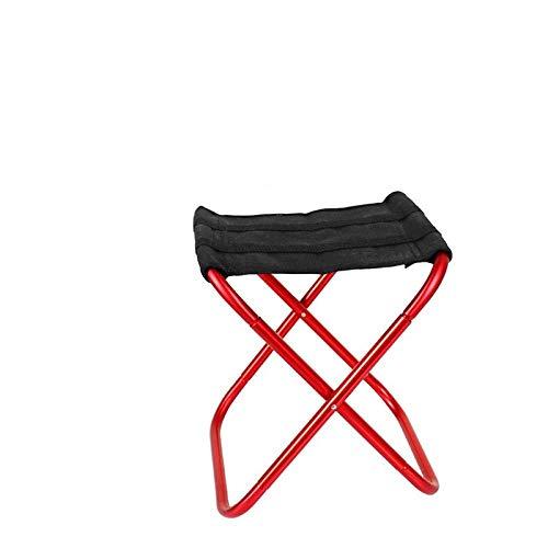 PLBB3K Pesca Que acampa Silla Silla Silla Plegable Ligero Plegable de Picnic de jardín de Aluminio Muebles de Pescar portátil Asiento-Gris-L (Color : Red-M)