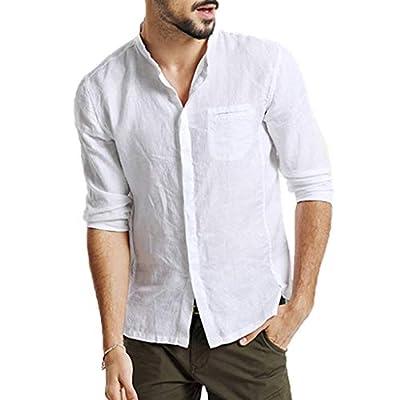 JustWin Men's Cropped Plaid Casual Cotton Short Sleeve Top Three Quarter Vintage Vintage T Shirts Blouse