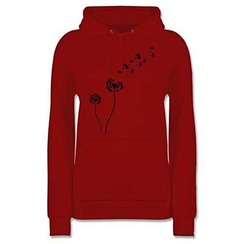 Shirtracer Statement Shirts - Pusteblume Löwenzahn - M - Rot - Hoodie Pusteblume - JH001F - Damen Hoodie und Kapuzenpullover für Frauen