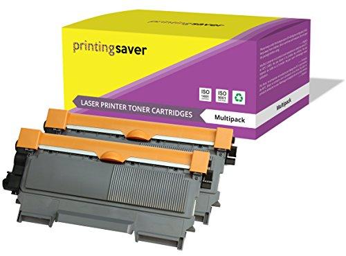 Printing Saver 2x NEGRO XXL Tóners compatibles para BROTHER HL-2130, HL-2132, HL-2135W, HL-2240, HL-2240D, HL-2250DN, HL-2270DW, DCP-7055, 7060D, 7065DN, MFC-7360N, FAX-2840 impresoras [5.000 páginas]