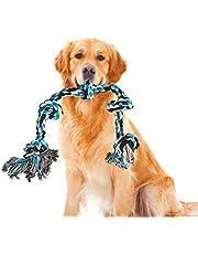 GHEART Juguete de cuerda para perro, cuerda de juguete para perros con nudo para perros grandes, juguete para masticar perro indestructible, juguete interactivo para la limpieza de dientes, 91 cm
