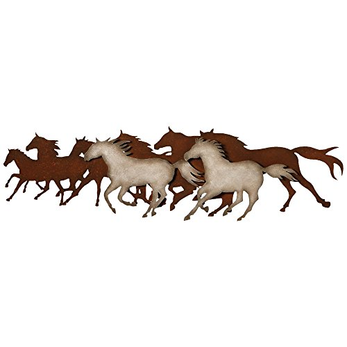 BLACK FOREST DECOR Galloping Horses Metal Wall Art