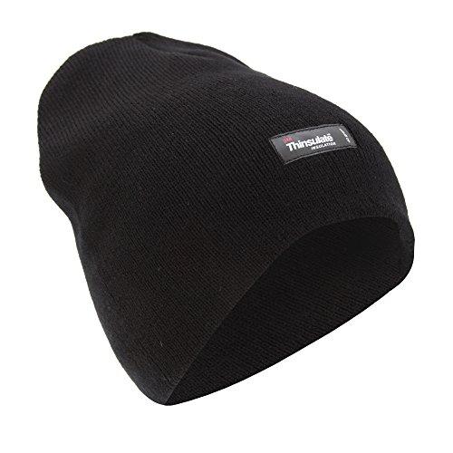 Bonnet Thermique uni - Homme (Taille Unique) (Noir)