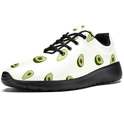 TIZORAX Laufschuhe für Damen Nahtloses Muster von Avocado Mode Sneakers Mesh Atmungsaktiv Walking Wandern Tennis Schuh, Mehrfarbig - mehrfarbig - Größe: 37 EU