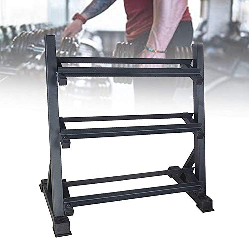 WSZYBAY Home 3 Tier Dumbbell Rack, Durable Weight Storage Holder, Free Weights Dumbbells Set for Home Gym Exercise with Best Storage Effect