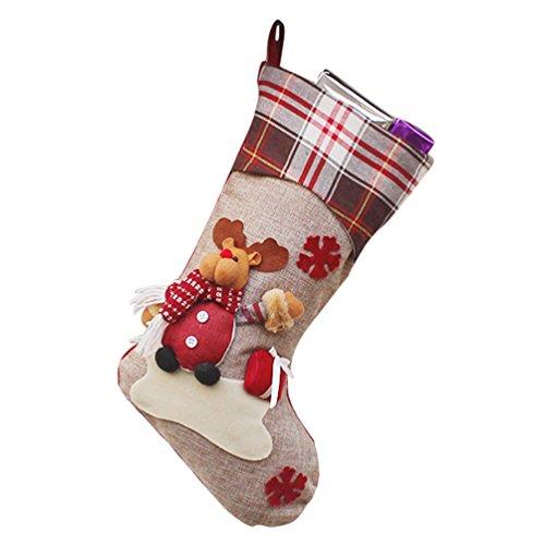 YiLianDa Appendere Calze Di Natale Calze Regalo Filler Cartoon Babbo Natale Pupazzo Di Neve Elk Decorazione Natalizia Felice Anno Nuovo Da