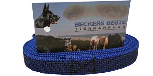 Beckers Beste Tiernahrung Hundeleine ohne Schlaufe gummierte   gummierte Hundeleine   gummierte Arbeitsleine   Führleine   Trainingsleine   Signal Farben   Langlebig und sehr robust (5 m, Blau)