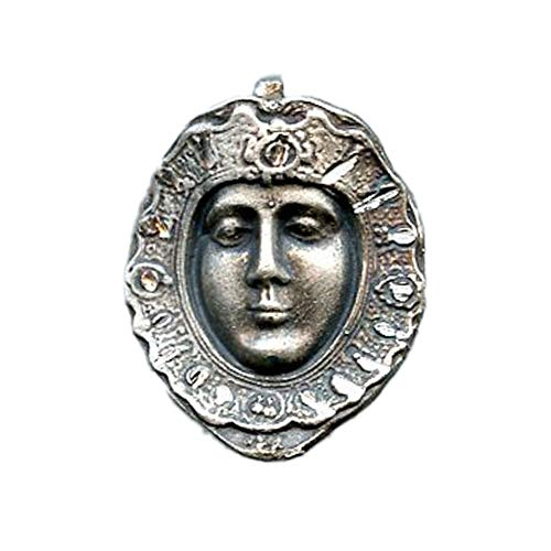 Medalla ROSTRILLO Virgen del Rocio 20x17 mm Plata DE Ley