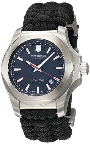 Victorinox Herren Analog Quarz Uhr mit Stoff Armband 241726