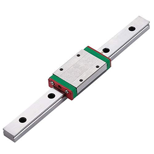 SANKUAI MGN12H 300 350 400 450 500 600mm Miniature Linear Rail Slide 1Cnc Linear Guide+1 Linear Bearing SS Carriage (Color : MGN12H, Size : 650)