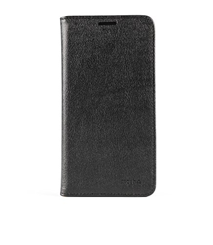 mosh? Huawei Honor 7 H?lle Schwarz, Mobilefashion, Ledertasche PU Leder, Tasche Schutzh?lle, Case Cover mit Standfunktion, Magnetischen Flip-Design