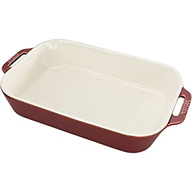 Staub 40511-889 Baking-Dishes Rectangular, 13  x 9 , Rustic Red