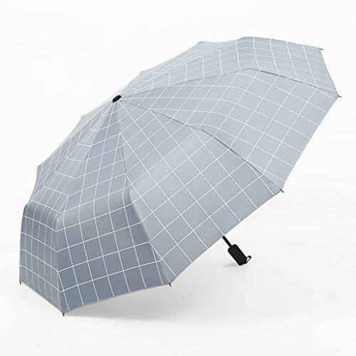 Eenvoudige plaid parasol 8 botten automatische paraplu unisex zonnescherm zonwering day regen paraplu A