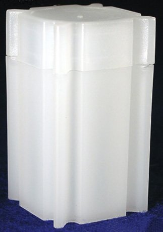 100 Coin Safe Square Coin Tubes for 25 SMALL DOLLARS by DOMAGRON
