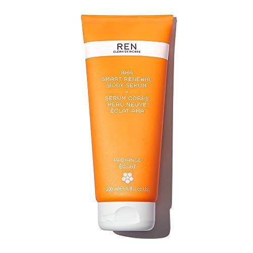 REN Clean Skincare - AHA Smart Renewal Body Serum - Exfoliating and Hydrating Skincare Serum, 6.7 Fl Oz
