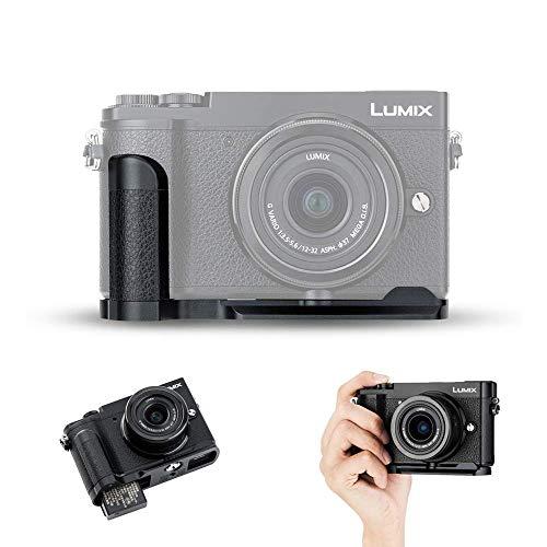 Handgriff Kameragriff für Panasonic Lumix GX80 GX9 DMC-GX80 DC-GX9 | Verbessertes Handling | Arca Swiss schnellwechselplatte kompatibel mit Stativ | Akku direkt wechseln | ersetzt Panasonic DMW-HGR2