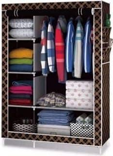 S K AND COMPANY Iron 4.1 Cabinet Easy Installation Folding Wardrobe Cupboard Almirah Storage Rack (Multicolour)