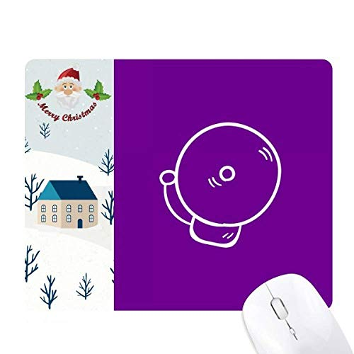 Alarma de Sonido Clase Final Knock Santa Claus House Mouse Pad Regalo