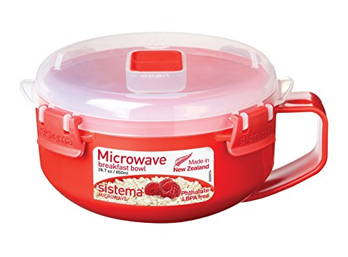 Sistema Microwave Frühstücksschale, 850ml, rot/transparent