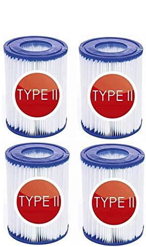LIANHUAA Filtro de Piscina Tipo 2, Cartuchos de Filtro para Piscina For Bestway II,tamaño 2, Filtro Limpieza de Piscina Hinchable, Accesorios, Cartuchos de Filtro, Filtro de Cartuchos, Papel (4)