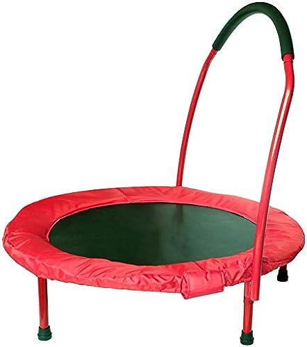 HANSHAN Gartentrampoline Trampolin, Niedliches Kindertrampolin Geeignet Für 3-6 Jahre 3 Farben 36 × 28 Zoll (Farbe   Rot)