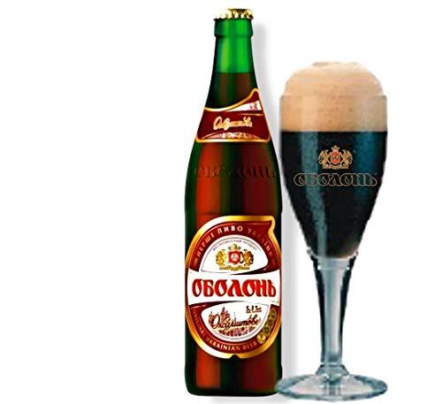 8 Flaschen Obolon Velvet, das dunkle Bier aus der Ukraine 5,3% Alc. Originalimport
