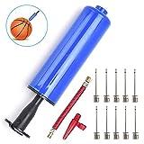 Pompe à ballon gonflable avec aiguilles, adaptateur de valve, tuyau d'air pour basket-ball, football, volley-ball, rugby, autres jeux gonflables