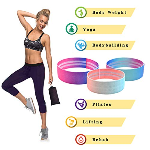 Best Prices! Resistance Bands Set - Booty Hip Bands for Legs Shoulders Arms Exercises for Fitness Yo...