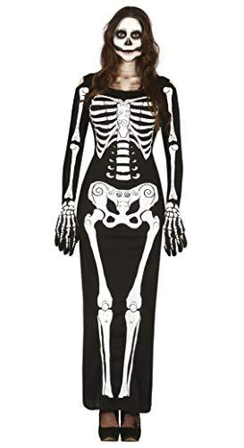 Guirca 80948 Lady Skeleton für Erwachsene, Größe M 38-40