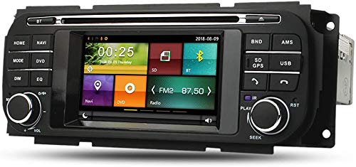 LINGJIE GPS Navigation Stereo für Jeep Grand Cherokee Freiheit Wrangler Dodge Ram Dakota Durango Caravan Chrysler Voyager PT Crousie 300m Sebring Kostenlose Rückfahrkamera