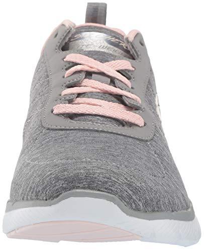 Skechers Flex Appeal 3.0-Insiders, Zapatillas Mujer, Multicolor (GYLP Black & Gray Mesh/Black Trim), 37 EU