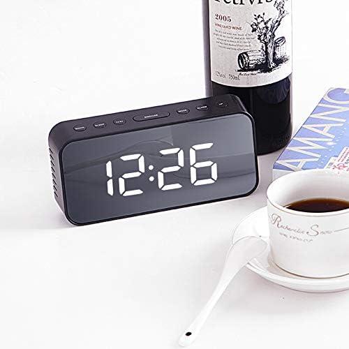 Xiaodong Boutique Réveil Silencieux Multi-Fonctions La Version de Batterie de Contrôle de Son Marron a Hommesé l'écran
