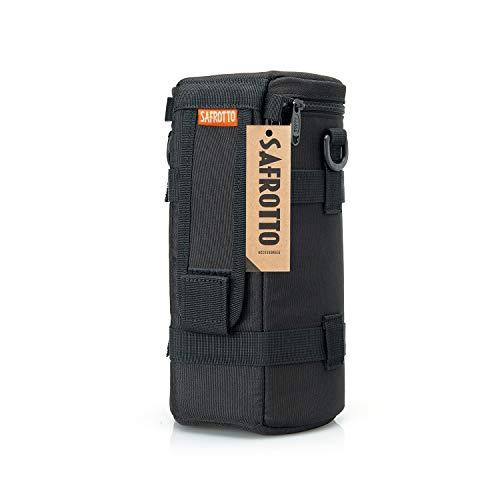 YJHome Deluxe Objektiv Tasche mit Umhängeband, passt Objektiv Durchmesser und Höhe unter 110 x 210 mm, Wasserdicht, Stoßfest, Schwarz