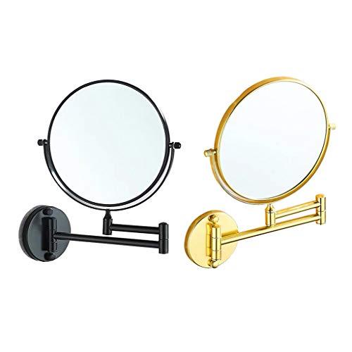 SDENSHI Ensemble De 2 Miroirs De Rasage Pivotants Grossissants 3X à Double Face De 7 Pouces