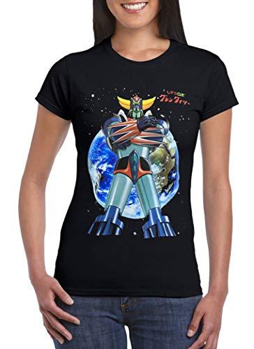 Uz Design T Shirt Goldrake UFO Robot Donna Bambino Maglietta Cartoni Animati Anni 80 Robot, Donna - S