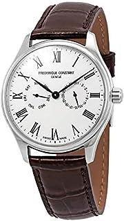 Frederique Constant Silver Dial Leather Strap Men's Watch FC-259WR5B6-DBR
